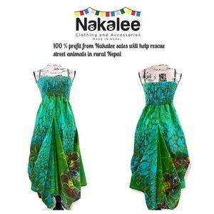 Boho Bustle Hitched Handkerchief Style Dress